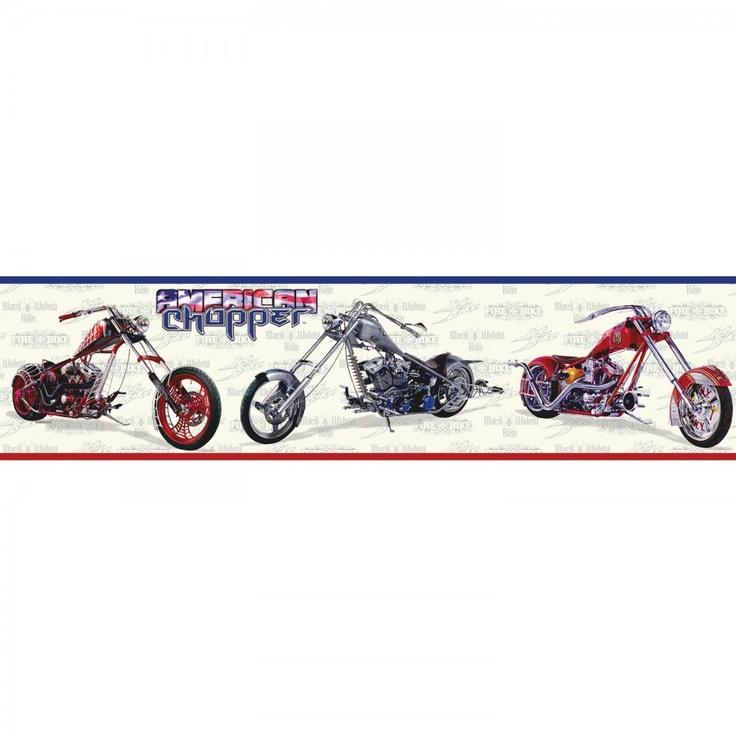 Room Mates Studio Designs American Chopper Wall Border   WT1060BCS