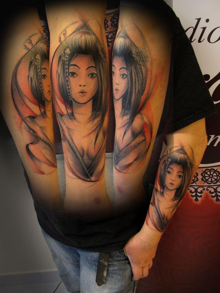 #tattoo #tattooartist #ink #inked #japanes #realistic #color #colortattoo #girl #studio #bardo #studiobardo