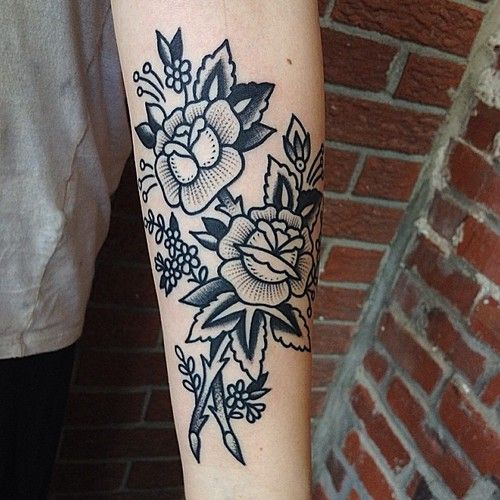 floral #arm #forearm #tattoos