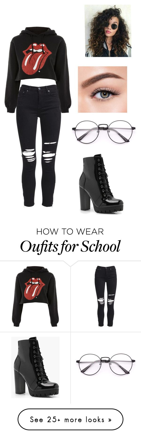 """""""high school bleh"""" by its-charliee on Polyvore featuring Boohoo, AMIRI and Morphe"""