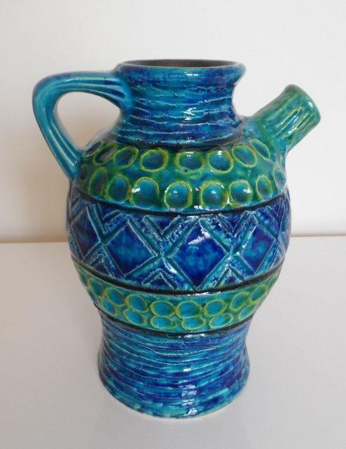 quirky retro teapot vase by bay keramik 1960s - Tpferei Scheune Kleine Wohnzimmer Ideen