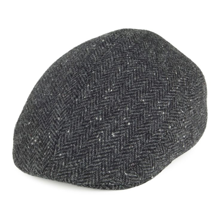 Crambes Hats Tweed Ascot Hat - Charcoal from Village Hats.