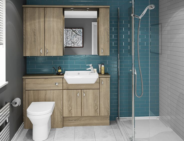 Truffle - The woodgrain texture and warm tones of Truffle work so well together to create a warm, contemporary bathroom.