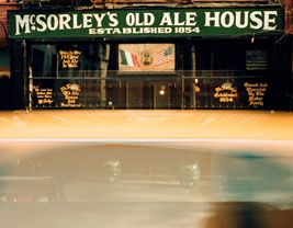 done.McSorley's Old Ale HouseMcSorley's Old Ale House   15 East 7th Street    New York, BY 10003  212.474.9148      Hours:  Monday – Saturday: 11AM – 1AM  Sunday: 1PM – 1AM        By subway:  6 - Astor Place  N or R - Eighth Street