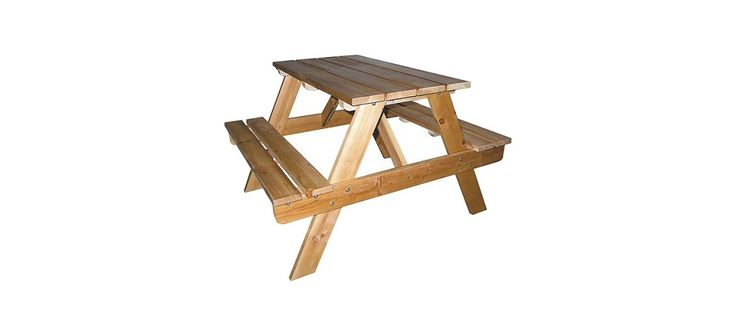 Ore International Indoor-Outdoor Picnic Table - Natural (Kids)