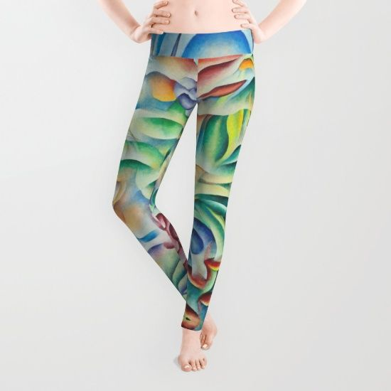 Flower Goddess leggins. Design based on  oil painting by Monique Rebelle. Our proprietary six-panel cut and sew construction provides an unprecedented quality in fit and versatility with an adjustable waist line for wearing high, low or somewhere in between. Using the highest quality anti-microbial polyester spandex material, these premium leggings wick moisture and remain breathable. #legginsoutfit #clothesforwomen #clothes #flowerforyou #flowerpower #goddessbeauty