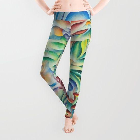 Flower Goddess leggins. Design based on  oil painting by Monique Rebelle