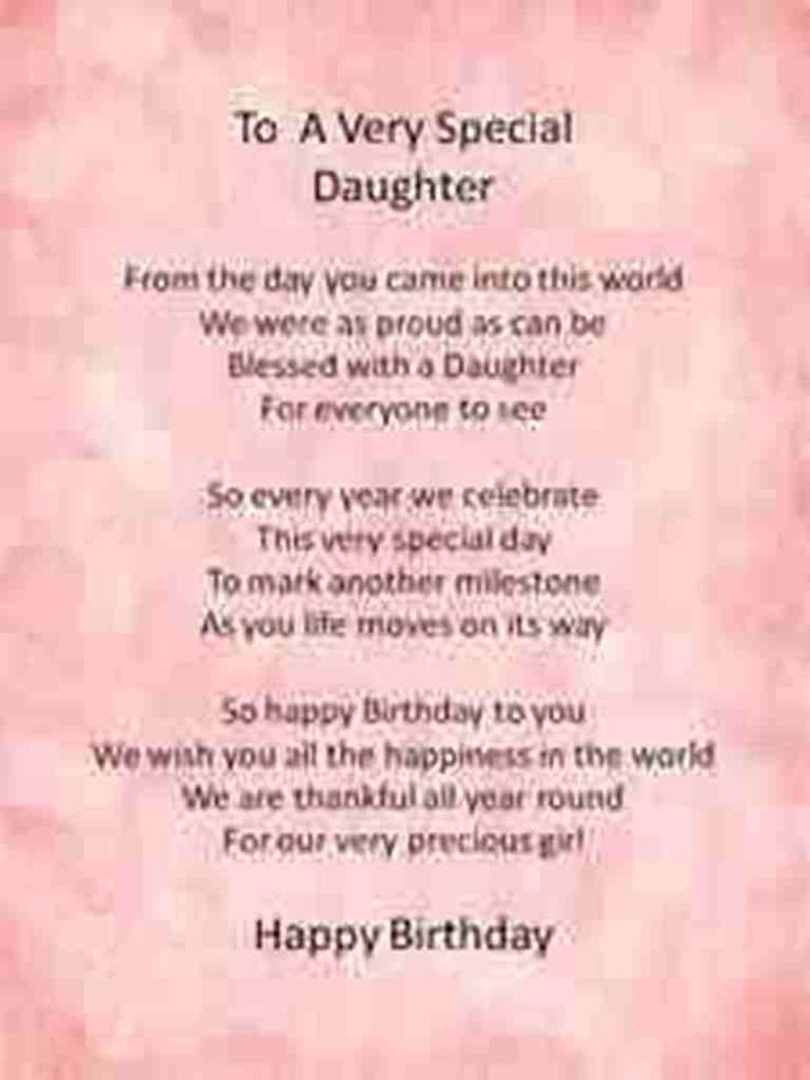 Wishes Happy Birthday Daughter Nanette Tarin Nan1268
