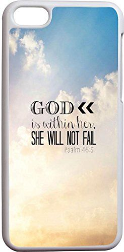 Psalm 46:5 god is within her whe will not fail beautiful sky christian bible verses quotes theme pattern print protector cover sleeve cases for apple iphone 5C Hungo http://www.amazon.com/dp/B00O4DBAI0/ref=cm_sw_r_pi_dp_6kctub0NVRHCP