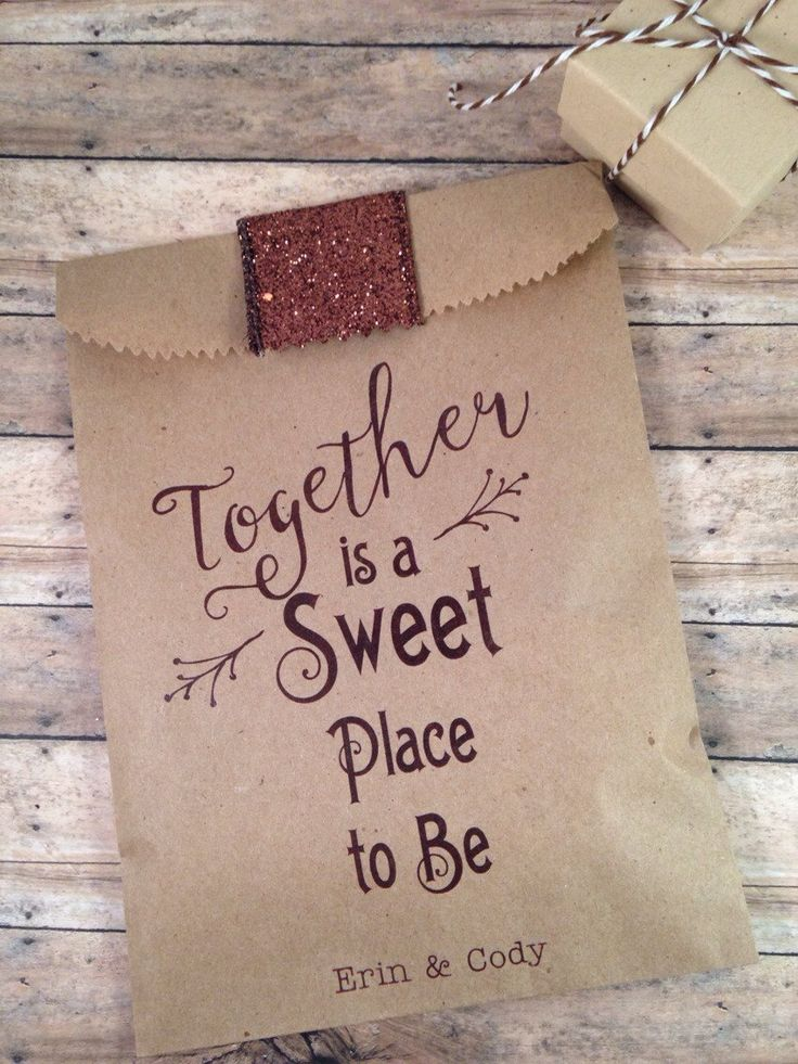 Hot Cocoa & Candy Wedding Favor Bags. Unique favors