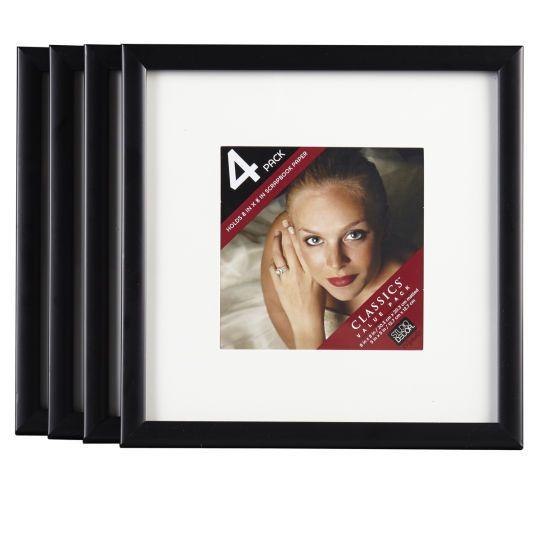 4 pack black basics multipurpose frames with mat by studio for 5x5 frames ikea