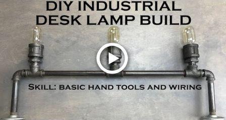 DIY Schreibtischlampe Industriebeleuchtung mit Edison Bulbs und Black Pipe –  #black #bulbs #…