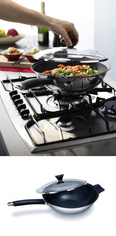 Ken Hom 12-1/2-Inch Non-Stick Stainless Steel Peking Wok