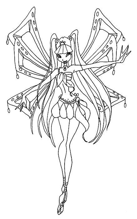 winx club flora coloring page Google Search Anime Art