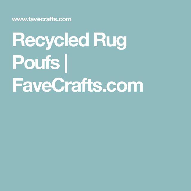 Recycled Rug Poufs | FaveCrafts.com