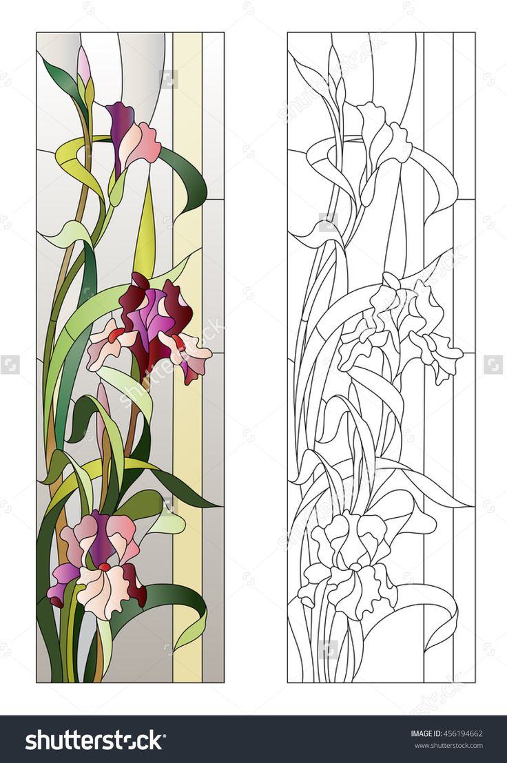 floral stained-glass pattern