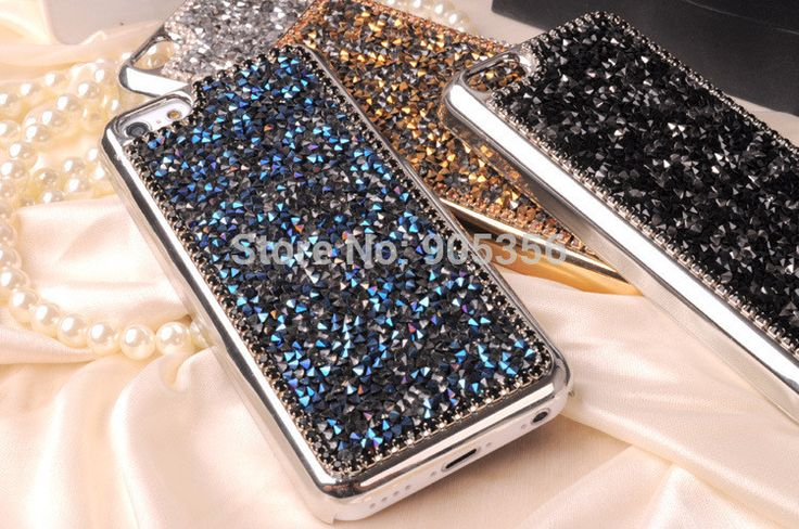 Hot New luxury Bling Full Diamond case for Apple iphone 5c phone case back cover With Retail box