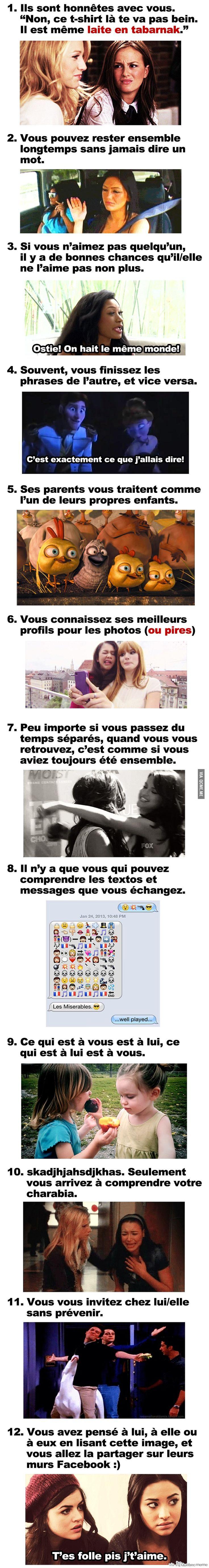 12 signes qui indiquent avec certitude que vous avez trouvé votre meilleur(e) ami(e) ! – Québec Meme +
