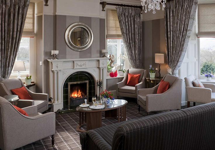 Boutique Hotel | Lounge | Fireplace | Ward Robinson Interior Design | Windermere