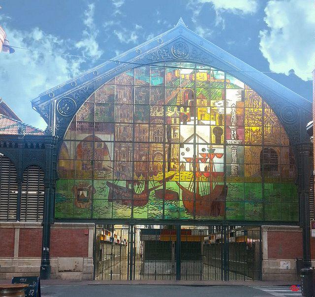 Vidriera del Mercado de Atarazanas en Málaga. AS https://goo.gl/zZhUcM