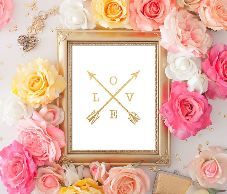 Gold Glitter Love Arrows 8x10 Golden Arrows Print Love Arrows art print gold Wall Art DIY Printable Digital INSTANT DOWNLOAD 300dpi by ShabbyPrintable on Etsy