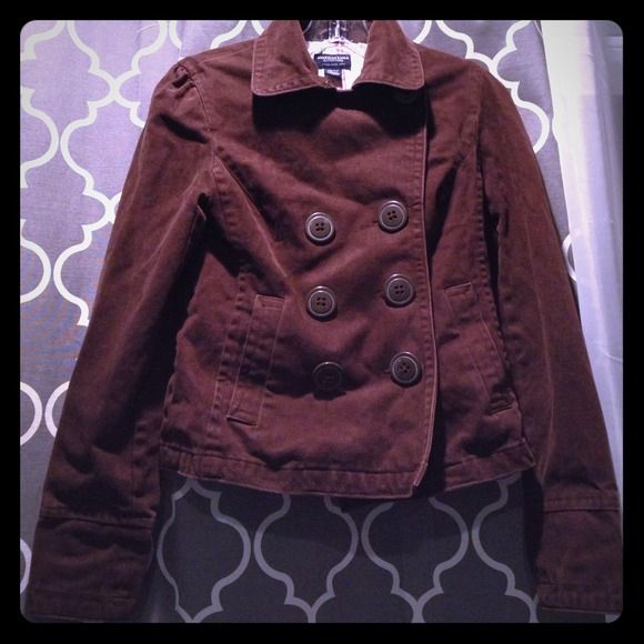 Brown American Eagle Jacket Button up American Eagle Jacket American Eagle Outfitters Jackets & Coats