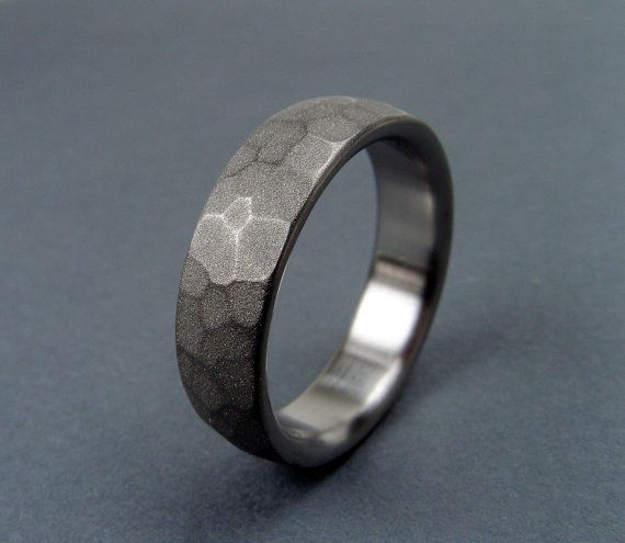 hand made titanium wedding rings