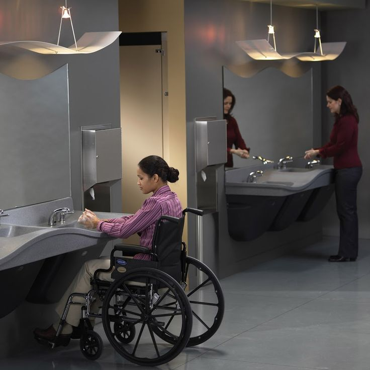 Ada Compliant Bathroom Sinks Part - 41: Stylish And Functional, The Frequency Lavatory System Adds A Multi-height  Dimension To Your