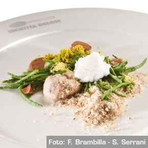 Chef Paolo Lopriore - Frutta secca e asparagi di mare   /   Mixed nuts and sea asparagus