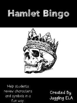 30 different bingo boards to help students review the difficult text Hamlet by William Shakespeare.