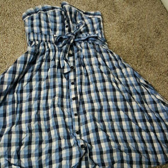 Strapeless plaid dress Perfect for bbqs Forever 21 Dresses Midi