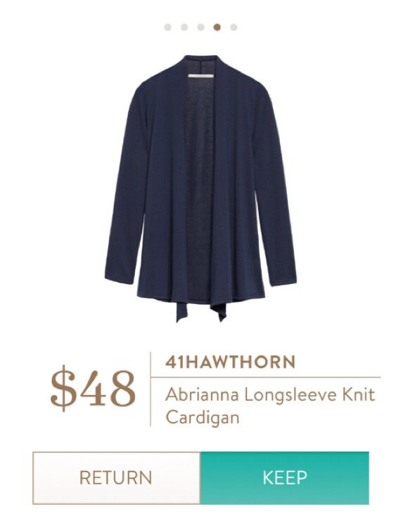 Easy, soft navy cardigan. Dress up or down! Perfect for fall! Stitch fix fall 2016.