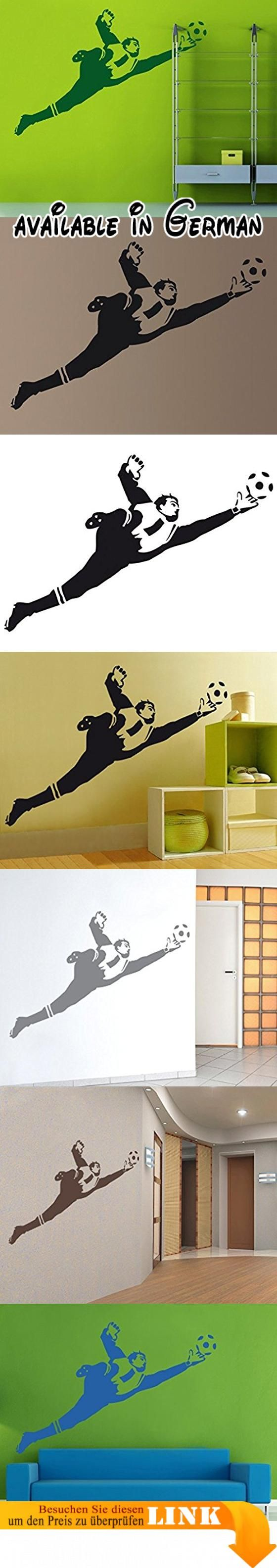 Wandtattoo No.UL453 Torwartparade II Kinderzimmer Jugendzimmer Fussball Torwart, Farbe:Schwarz;Größe:90cm x 137cm. selbstklebende Qualitätsfolie. leicht & rückstandsfrei ablösbar. flexibel, reiß- & wischfest. einfaches Anbringen. klebt auf Raufaser, Glas & Möbeln #Furniture #HOME_FURNITURE_AND_DECOR