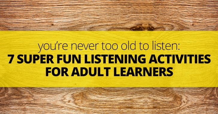activities for adult learners