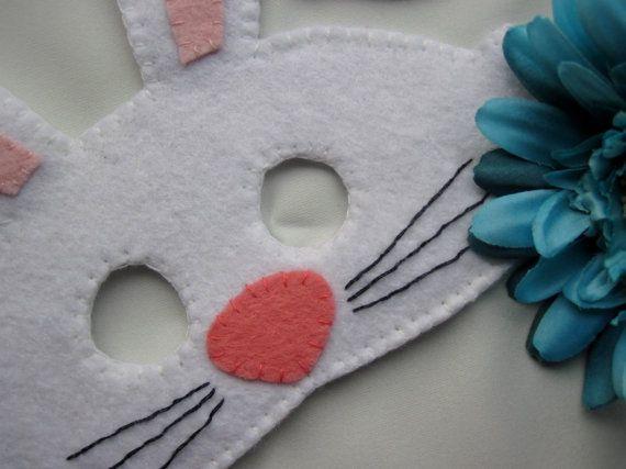 Easter Bunny Rabbit Mask, Felt Childrens Dressing Up Mask