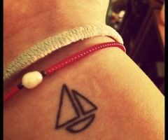 I don't have any tattoos yet, however I could consider this one. For the love of sailing and the reminder of what it represents ...