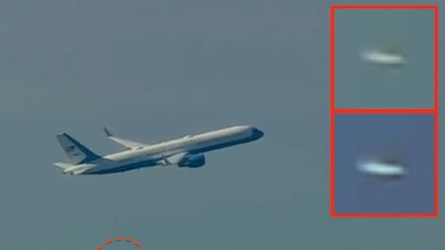 Extraterrestres dão escolta a avião do presidente Donald Trump em Washington D.C ~ Sempre Questione