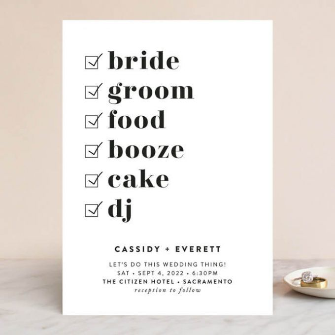 Funny Wedding Invitation Wording Examples Photos Emmaline Bride In 2020 Funny Wedding Invitations Wedding Invitation Wording Examples Wedding Invite Wording Funny