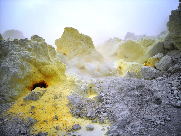 Sulfur volcano's in Garut - Indonesia