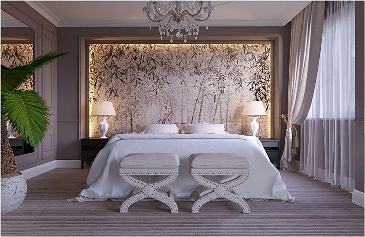 cama lujosa blanca estilo señorial dormitorios Pinterest - teppichboden für schlafzimmer
