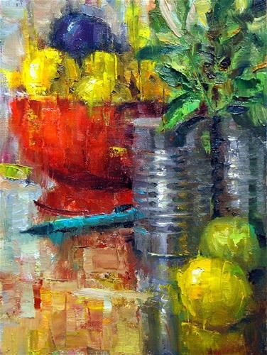 """Daily Paintworks - """"Red, Yellow and Blue"""" - Original Fine Art for Sale - © Julie Ford Oliver"""