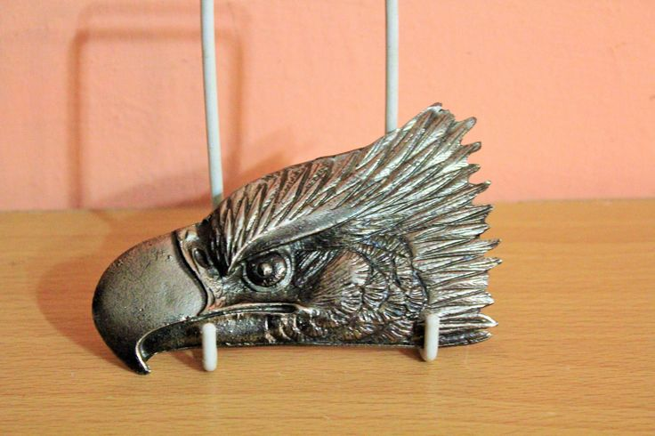 Vintage Cast Metal Eagle Head Belt Buckle, Wildlife Jewelry, Western Belt Buckle, Men's Gift by Grandchildattic on Etsy