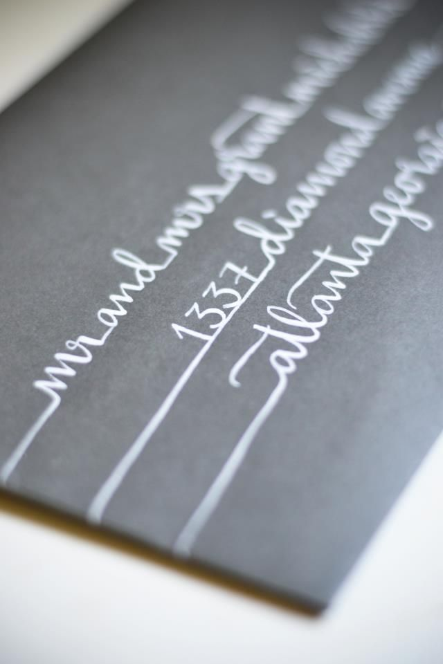 Calligraphy | Little Byrd Lettering | #invite #envelope #addressing
