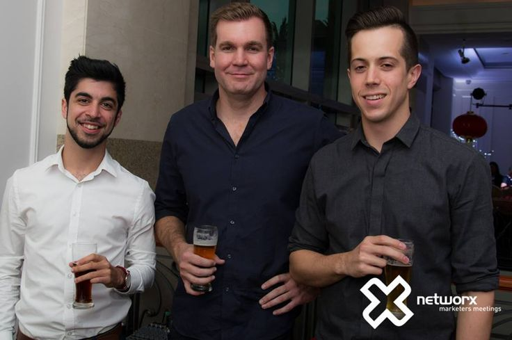 Amir, Matt and Sam at the Networx event in Brisbane, March 2015