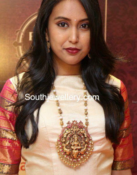 Nakshi Balls Mala with Lakshmi Pendant photo