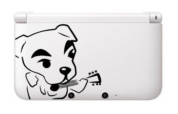 K K Slider Animal Crossing 3DS XL Vinyl Decal - For Your Nintendo Game System -
