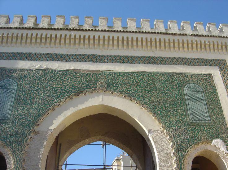 Morocco, Fez Medina main gateway to old walled city