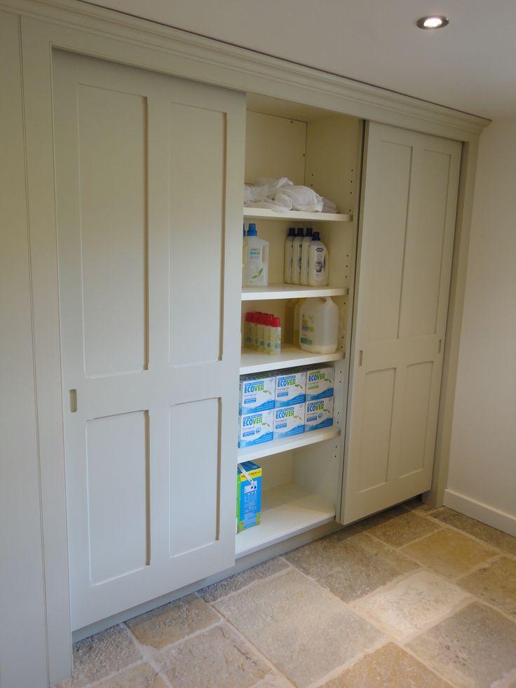 Sliding utility cupboard doors
