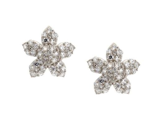 Pave Flower Stud Earrings: Studs, Flower Stud, Stud Earrings, Styling Closet, Pave Flower, Products