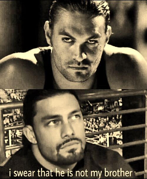 Roman Reigns and Jason Momoa. They could be brothers even if Roman is half Samoan and Jason is half Hawaiian. But they are both very sexy men. <3 <3 <3